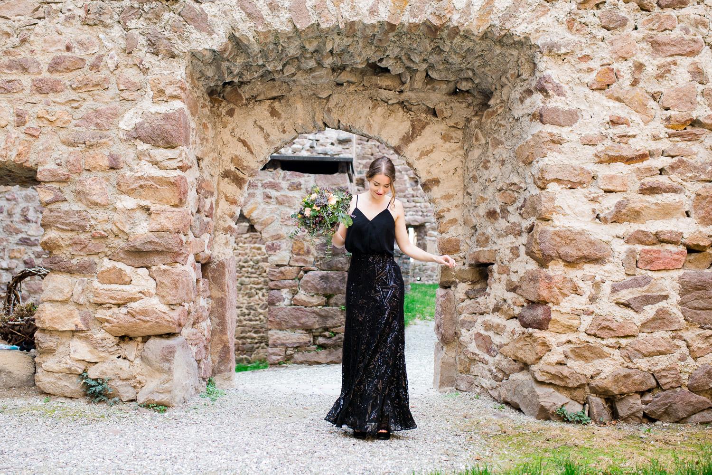 Inspiration mit schwarzem Hochzeitskleid